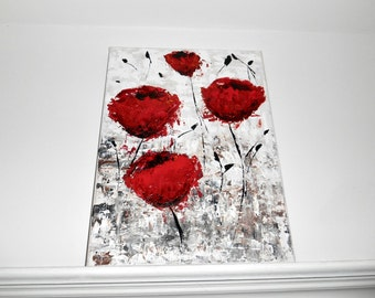 Poppy Painting, Red Poppies, Red Poppy Painting