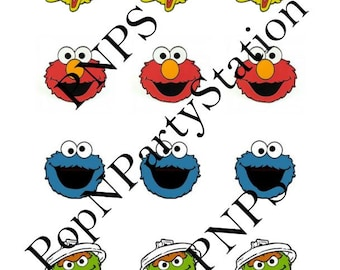 INSTANT DOWNLOAD/ Sesame Street/Party Circles/ Tags