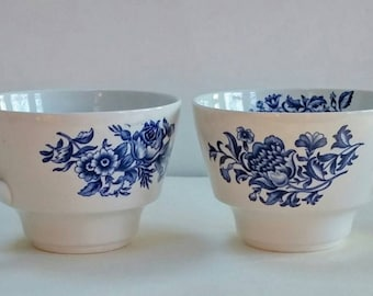 Vintage Ceramic Cups, Peony Design,Made in England,Coffee Cup,Tea Cup
