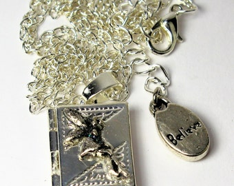 Tinkerbell Peter Pan Neverland Book Locket Necklace