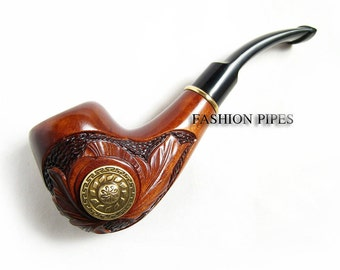 "Wood pipe Tobacco Pipe ""VIKING"" Pipes Smoking Pipes. Handcrafted wooden pipe"