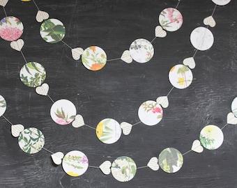 Hot Air Balloon Garland, Flower Garland, Wedding Garland, Wedding Decoration, Paper Garland, Floral Bunting, 10 feet long