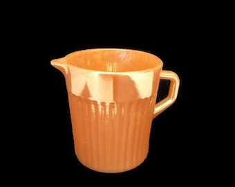 Vintage Fire King Small Pitcher Peach Lusterware by Anchor Hocking 1950s Kitchen