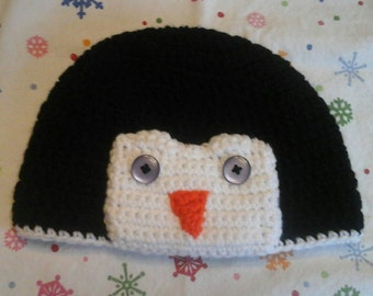 Penguin Hat, Beanie for Baby, Child, Teen, or Adult, Winter Photo Prop, Gifts for New Baby