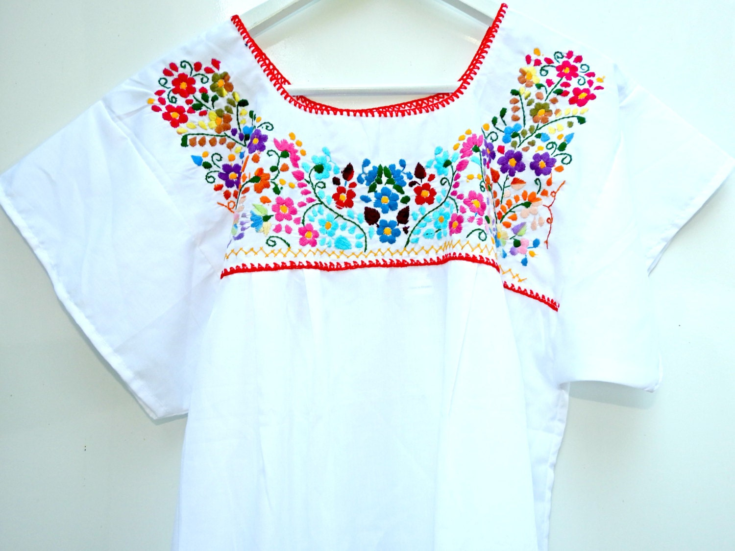 Embroidered Mexican Wedding Dress