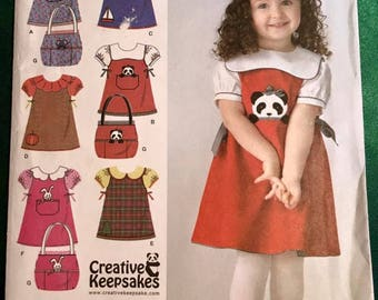 Simplicity Pattern 3662 Sizes 1/2 thru 4 UNCUT- Childs Jumper,Blouse & Purse Pattern