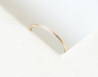 Minimal Ring • Recycled 9K Yellow or Rose Gold