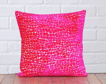 Pink Velvet Dots Pillow