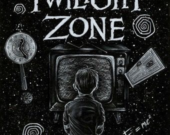 The Twilight Zone 11 by 14 art print