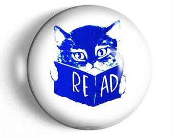 Cat with book paperweight book club gift for teacher Read desk accessory large glass domed paperweight