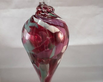 Hand Blown Tapered Christmas Ornament
