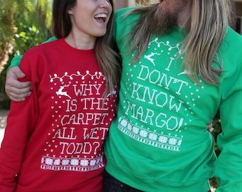 Couples Sweatshirts. Matching Christmas Shirts. Christmas Sweatshirts. Christmas Sweater Men. Matching Christmas Sweaters.