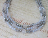 Pearl necklace, Jewellery Set, blue jewelry, gift for her, Handcrafted in the Isle of Skye