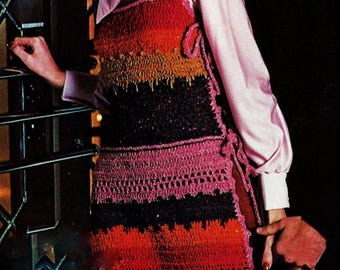 Long Vest Vintage Crochet Pattern Instant Download