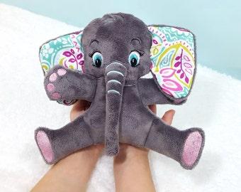 Personalized Stuffed Animal, Elephant Stuffed Animal, Gift for Toddler, Stuffed Elephant Toy, Plush Elephant, Soft Toys, Cute Stuffed Animal