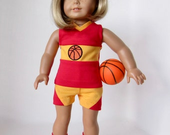 American Girl Doll: Red and Gold Basketball