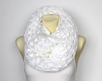 Big Oversized Scarf Winter Circle Scarf Cowl Chunky Fashion Wrap Oversized Scarf Winter Chunky Snood Winter Chunky Knit Scarf Xmas Gift