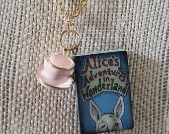 Alice's Adventures in Wonderland Charm Necklace