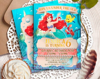 Little Mermaid Invitation Etsy