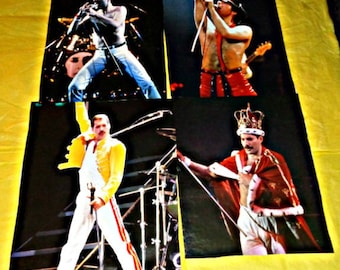 Freddie Mercury Four Calendar Posters Music Memorabilia Poster Queen Rock Group Band Stage Shots Full-Colour Collectable Perfect To Frame