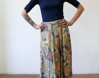 Funky Viscose Maxi Skirt