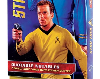 Boxes set Star Trek Crew Collectibles Note Cards with stickers, 7 die cut cards with stickers for all occasions Enterprise Crew,