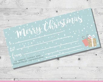 Rodan and Fields Christmas Gift Certificate | INSTANT DOWNLOAD
