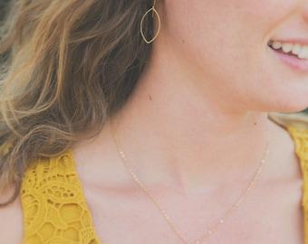 Brass Oval Earrings, Delicate Geometric Earrings, Elegant Earrings, teacher gift, Everyday Earrings, Gift for Sister, Jewelry for mom