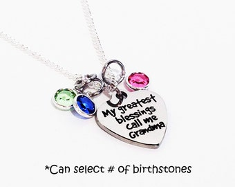 Mothers Day Gift for Grandma, Mothers Day Gift Grandma, Grandma Necklace, Mothers Day, Birthstone Necklace for Grandma, Birthstone Necklace