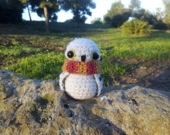 Hedwig Harry Potter Barn owl Hogwarts Scarf Amigurumi Crochet Handmade