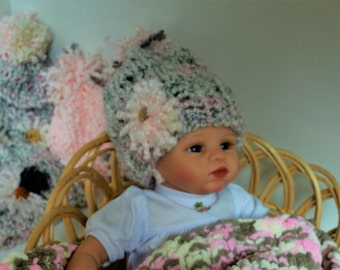Baby Girl Hat/ Newborn - 6 months