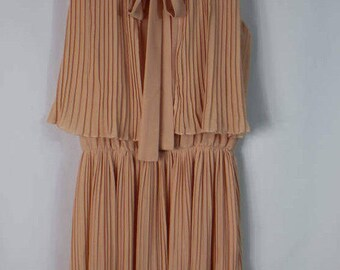 Pleated Peach Dress