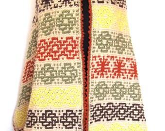 Multicolor Scrap Shawl
