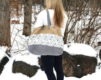 Canvas Tote Bag Pattern The Burley Tote Bag Pattern Large Burlap Bag Pattern
