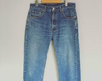 Vintage LEVIS 1990s JEANS/DISTRESSED Denim/size 34 waist