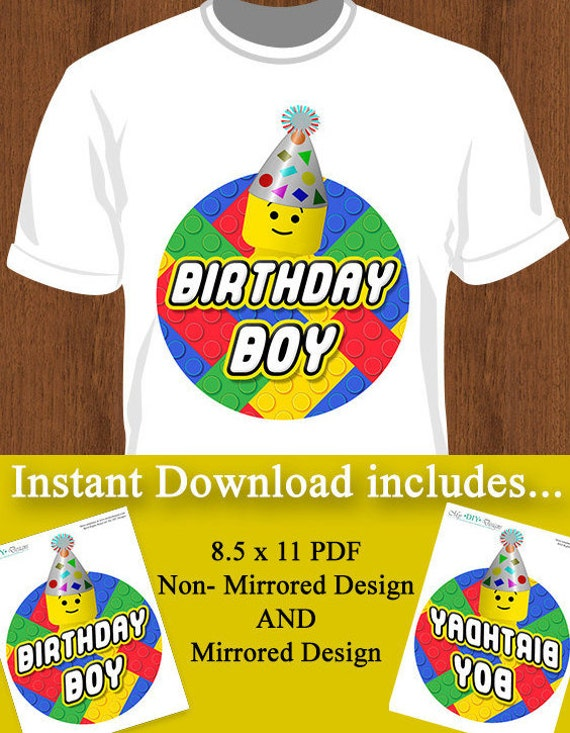 Printable Building Blocks Iron On T Shirt Design