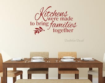 kitchen wall quotes etsy