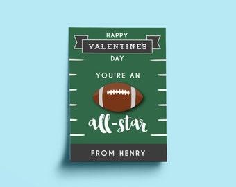 printable football valentines football valentines day cards football valentines printable classroom valentines for - Football Valentine Cards