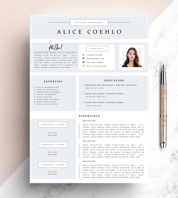 Professional Resume Template CV Template Editable In MS Word - Resume Size Letter Or A4