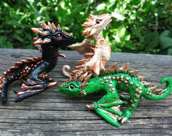 Game of Thrones inspired dragons set - Drogon Rhaegal Viserion - baby dragon figurine - dragon sculpture - fantasy - targaryen  dragons