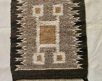 Vintage Navajo Saddle Blanket Woven Rug Weaving Southwestern