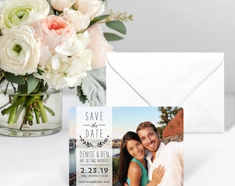 Westerly - Card - Save the Date - Includes Back Side Printing + Envelope