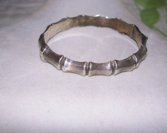 Bamboo Sterling Silver 1971 Clasp  Bracelet Safety Chain CPS jewelry Co. Birmingham Englad