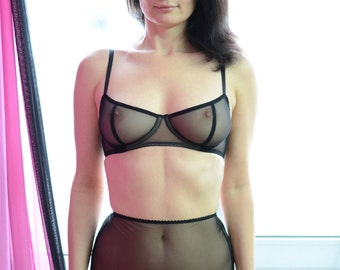 Women Sleepwear & Intimates Bras The Sheer Cup Underwire Mesh Bra MADE TO ORDER