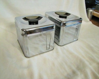Tea and Coffee Canister Lincoln Beautyware Tea and Coffee Chrome