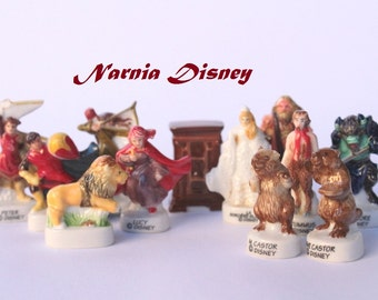 Narnia Disney/Bean Fève -12 figurines- Hand painted - Porcelain/ ceramic figurines - Collection - Fabophilie