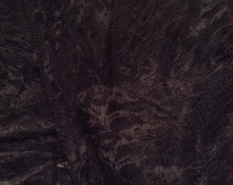 """Dark Navy Blue Semi Stretch Lace Fabric  *  Sold by the Yard * 60"""" Wide * 2-Way Limited Stretch"""