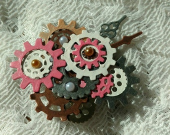 Pastel Steampunk Pin/Brooch