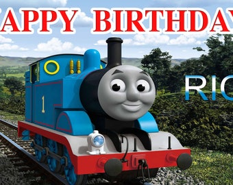 Birthday banner Personalized 4ft x 2 ft  Thomas & Friends