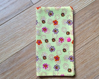 Health booklet case protector Flower pink yellow case booklet cover and protector